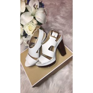 MK CARLA PLATFORM LEATHER